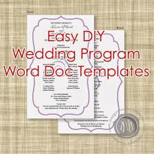 word template for wedding program margotmadison diy wedding program word doc templates now available