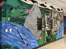new mural brightens the entry to roxbury high school roxbury nj roxbury high school s new front vestibule mural