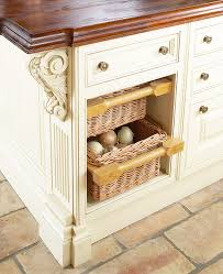 kitchen basket ideas savvy kitchen island storage traditional home