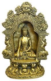 Buddhist Home Decor Buddha Brass Statue With Beautiful Arch Buddhist Yoga Decor