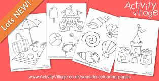 seaside colouring pages younger children