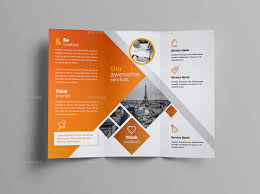 Tri Fold Program Tri Fold Brochure By Generousart Graphicriver
