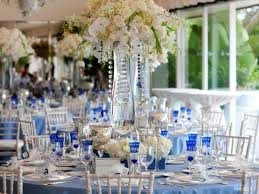 and silver wedding blue and silver wedding centerpieces cobalt blue white silver