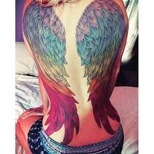 rainbow tattoo angel wing tattoo pinterest rainbow tattoos