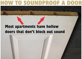Sound Dening Interior Doors How To Soundproof A Bedroom Door Do It Yourself