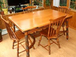 solid maple dining table vintage 1940s traditional solid maple dining set table and four