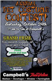 halloween pet costume contest campbell u0027s true value