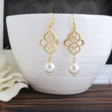 Chandelier Pearl Earrings For Wedding Best Gold And Pearl Chandelier Earrings Products On Wanelo