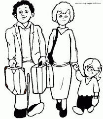 easy to color family coloring sheets family color page family