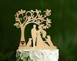 two dog cake topper etsy