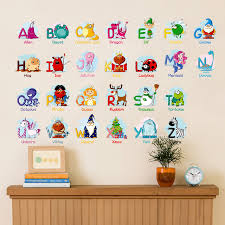 Letter Wall Decals For Nursery Animal 26 Diy Letters Words Teaching Tools For