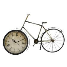 metal wall fashioned bicycle clock ornament co uk