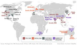 India On The World Map by Here U0027s Everywhere Uber Is Banned Around The World Business Insider