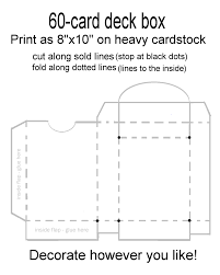 templates for making your own card deck boxes this could be fun