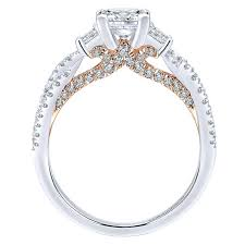 pink gold engagement rings engagement ring 14k white pink gold diamond 3 stones three