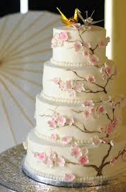 Origami Wedding Cake - cake cherry blossom cake