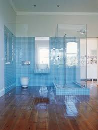 Blue Bathroom Tiles Ideas Bathroom Bathroom Wooden Floor Blue Ceramic Tiles Backsplash Open
