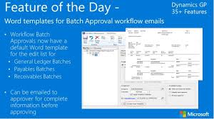 dynamics gp 2016 feature of the day word templates for batch