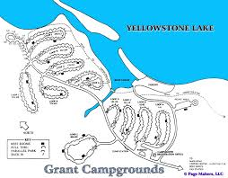 Map Of Yellowstone National Park Grant Campground Map Pictures And Video Yellowstone National Park