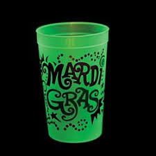 mardi gras cups plastic and glass dishes to suit any party