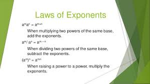 exponents and radicals class 8th