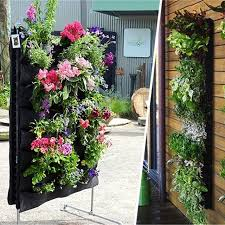 Indoor Wall Planter Aliexpress Com Buy Large 4 Pockets Hanging Flower Pot Polyester