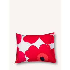 Marimekko Unikko Duvet Unikko Pillow Case 50x60cm White Red Marimekko Com