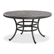 oval aluminum patio table 52 castle rock round cast aluminum patio table ld10 a by