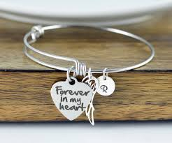 personalized remembrance jewelry forever in my heart personalized bracelet remembrance jewelry