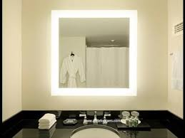 backlit bathroom vanity mirror diy lighted vanity mirror youtube for backlit decor 3 kmworldblog com