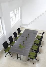 Grey Meeting Table Grey Wood Metal Conference Table Ambience Doré