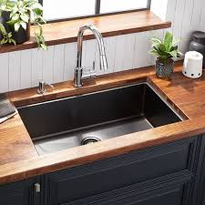 cabinet kitchen sink 32 atlas stainless steel undermount kitchen sink gunmetal black