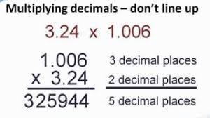 multiplying decimals how to multiply decimals tutapoint