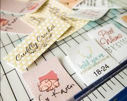 printable fabric tags fold over custom fabric labels or tags custom sizes your logo