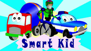 cartoons for children about cars an excavator loader and a