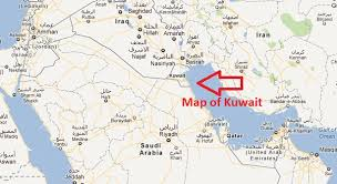 kuwait on a map kuwait to jeddah map