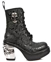 womens boots 100 rock m8358 s1 nrk skull boots 100 leather boots free