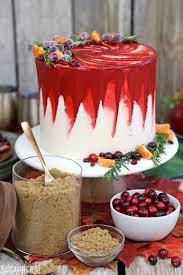 brown cake brown sugar cranberry cake sugarhero