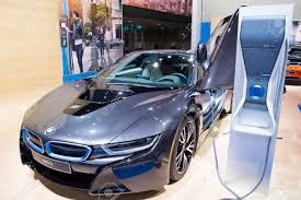 bmw supercar blue detroit mi usa january 12 2015 bmw i8 electric supercar