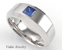 unique mens wedding rings unique mens wedding band comfort fit luxury princess cut sapphire