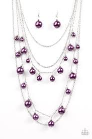 silver purple necklace images Purple paparazzi accessories jewelry jpg