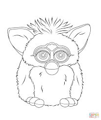 furby boom coloring page free printable coloring pages