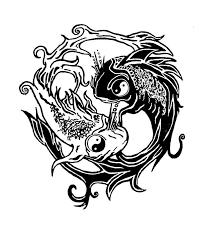 30 yin yang fish designs