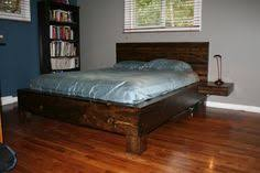 Queen Size Platform Bed Plans by Vintage Danish Modern Queen Size Semi Floating Teak Platform Bed