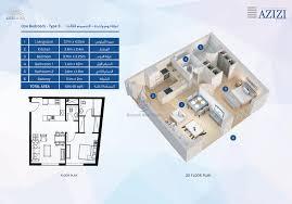 azizi aura studio apartment type 2 floor plan