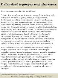 Research Resume Examples by Top 8 Prospect Researcher Resume Samples