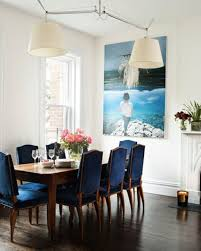 Best  Blue Velvet Chairs Ideas Only On Pinterest Blue Living - Navy and white dining room