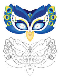 printable peacock mask coolest free printables costumes