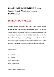 zetor 8011 8045 12011 12045 tractor service repair workshop manual