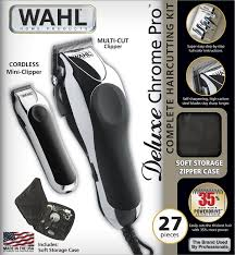 amazon com wahl 79524 1001 deluxe chrome pro with multi cut